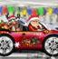 圣诞礼物车