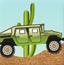 沙漠绿皮卡车