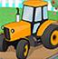 农场停拖拉机