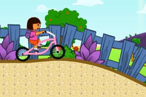 朵拉粉色自行车
