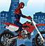 蜘蛛侠开摩托车