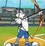 卡通奥运之会兔八哥射箭
