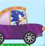 索尼克开车吃金币