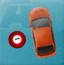 小车撞台球