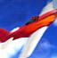 模型飞机撞气球