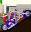 超级美女越野摩托车