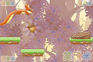 小松鼠收集松果