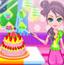 小姑娘做蛋糕