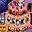 可口的万圣节蛋糕