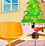 圣诞节的客厅