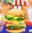 超大双层汉堡包