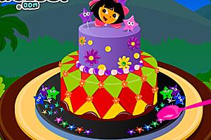 漂亮的朵拉蛋糕
