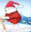 圣诞雪地轨迹