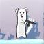北极熊战企鹅