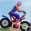 蜘蛛侠骑自行车