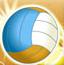 沙滩排球对撞