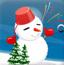冬季可爱雪人