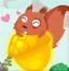 小松鼠吃榛子