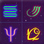 神秘的星空符号