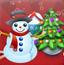 圣诞雪人对对碰