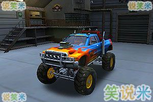 3D怪物卡车停车