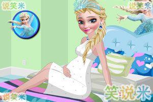时尚的孕妇艾莎