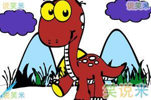 小恐龙填颜色