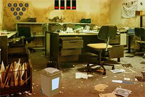 逃离废弃的办公室
