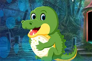 救援小锯鳄宝宝