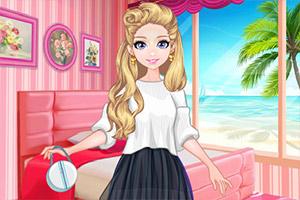 甜心女孩的粉色房间