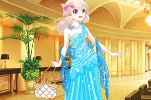 漂亮女孩的闪亮亮礼服
