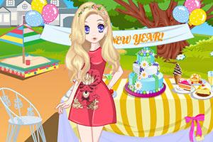萝莉女孩参加野外派对