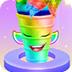 独角兽彩虹冰淇淋蛋卷