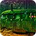 逃离废弃的森林汽车