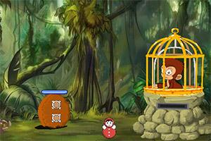 困在笼里的猴子