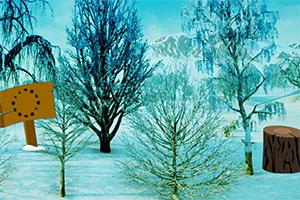 逃出冬季小树林