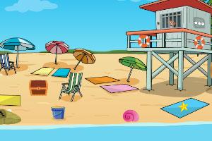 沙滩小狗逃脱